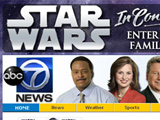 ABC7 Star Wars Live Site wrap